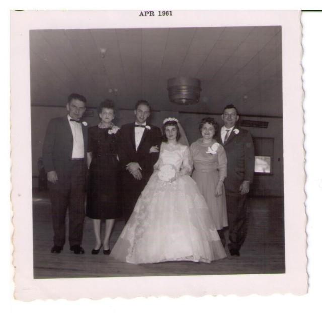 1961 - Jim, Lena, Jerry, Margie, Gertie, Steve, February