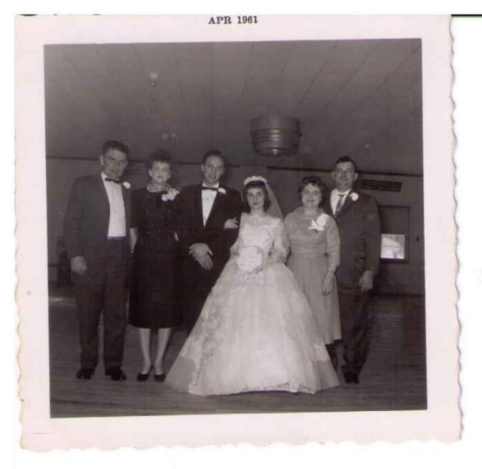 1961 - Jim, Lena, Jerry, Margie, Gertie, Steve, February